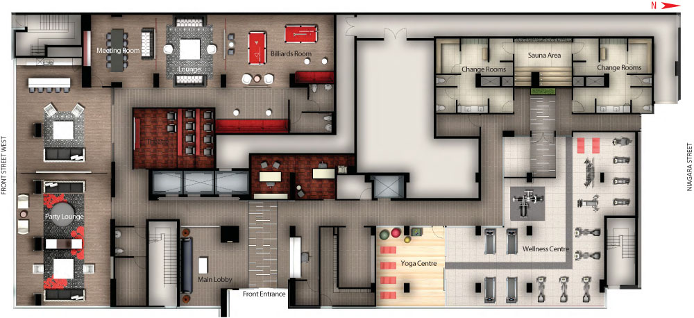 Revecondo Amenities Floorplan C O Tridel R 234 Ve